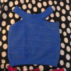 Bebe bright blue crop top